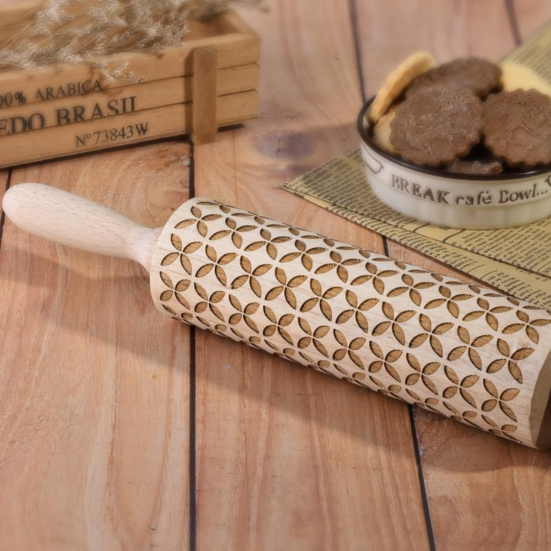 Faraday Science Shop Handmade Christmas 3D Rolling Pin