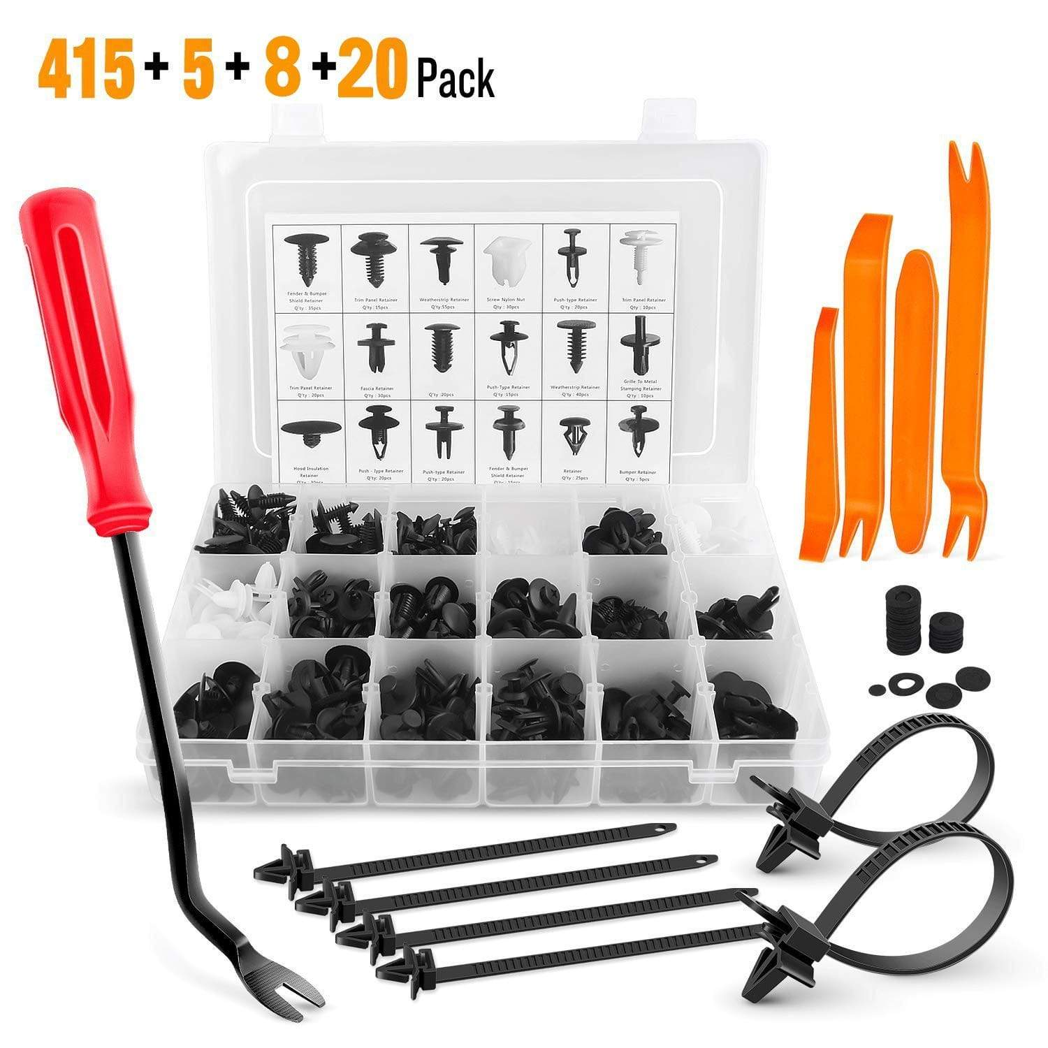 Jokared Handmade Complete Kit - With Tools 415 PCS Auto Fasteners Kit