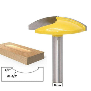 "Yoybi Handmade 8mm shank 1PC 8mm Shank Small Bowl Router Bit - 1-1/2"" Radius - 1-3/4"" Wide door knife Woodworking cutter RCT"