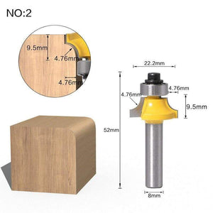 Yoybi Handmade NO 2 1pc 8mm Shank Trimmer Ceaning Flush Trim Wood Router Bit Straight End Milll Tungsten Milling Cutters For Wood Woodworking Tools