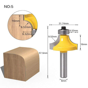Yoybi Handmade NO 5 1pc 8mm Shank Trimmer Ceaning Flush Trim Wood Router Bit Straight End Milll Tungsten Milling Cutters For Wood Woodworking Tools