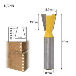 Yoybi Handmade NO 18 1pc 8mm Shank Trimmer Ceaning Flush Trim Wood Router Bit Straight End Milll Tungsten Milling Cutters For Wood Woodworking Tools