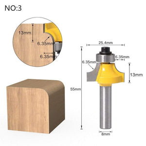 Yoybi Handmade NO 3 1pc 8mm Shank Trimmer Ceaning Flush Trim Wood Router Bit Straight End Milll Tungsten Milling Cutters For Wood Woodworking Tools