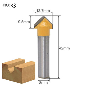 Yoybi Handmade NO 33 1pc 8mm Shank Trimmer Ceaning Flush Trim Wood Router Bit Straight End Milll Tungsten Milling Cutters For Wood Woodworking Tools