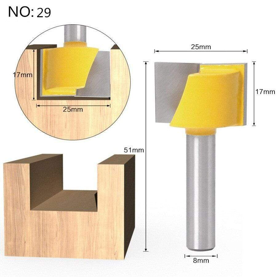 Yoybi Handmade NO 29 1pc 8mm Shank Trimmer Ceaning Flush Trim Wood Router Bit Straight End Milll Tungsten Milling Cutters For Wood Woodworking Tools