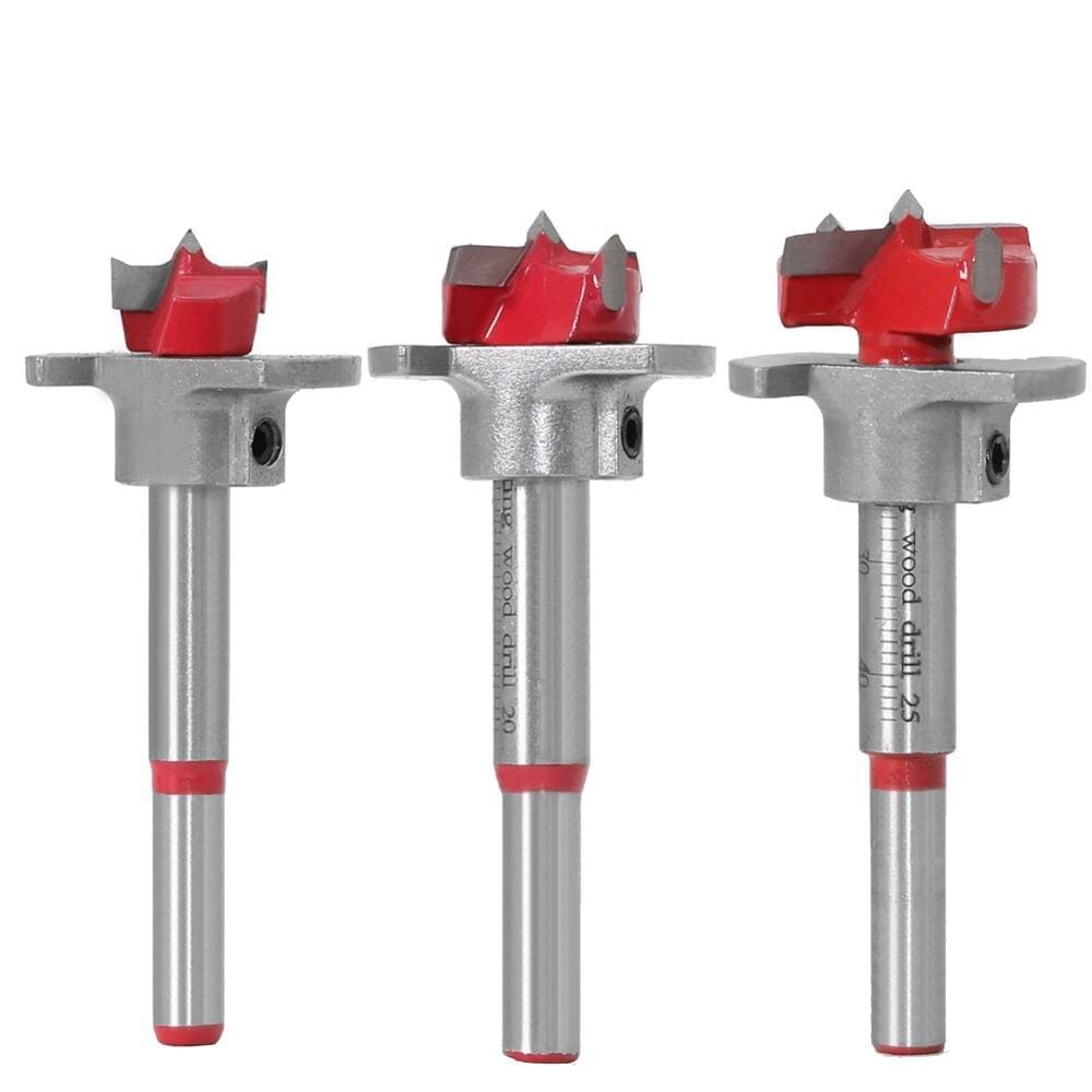 Yoybi Handmade 1pc Diameter 15,20,25,30,35mm Adjustable Carbide Drill Bits Hinge Hole Opener Boring Bit Tipped Drilling Tool Woodworking Cutter