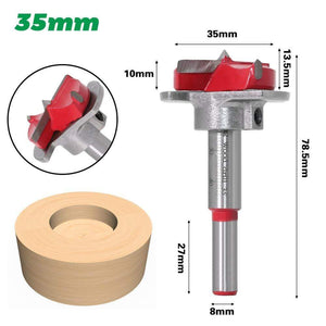 Yoybi Handmade 35mm 1pc Diameter 15,20,25,30,35mm Adjustable Carbide Drill Bits Hinge Hole Opener Boring Bit Tipped Drilling Tool Woodworking Cutter