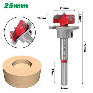 Yoybi Handmade 25mm 1pc Diameter 15,20,25,30,35mm Adjustable Carbide Drill Bits Hinge Hole Opener Boring Bit Tipped Drilling Tool Woodworking Cutter
