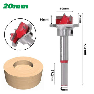 Yoybi Handmade 20mm 1pc Diameter 15,20,25,30,35mm Adjustable Carbide Drill Bits Hinge Hole Opener Boring Bit Tipped Drilling Tool Woodworking Cutter