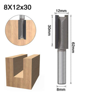 Yoybi Handmade 8X12X30 1pcs 8mm Shank 2 flute straight bit Woodworking Tools Router Bit for Wood Tungsten Carbide endmill milling cutter