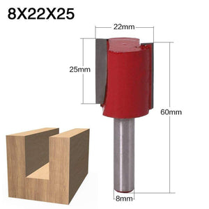 Yoybi Handmade 8X22X25 1pcs 8mm Shank 2 flute straight bit Woodworking Tools Router Bit for Wood Tungsten Carbide endmill milling cutter