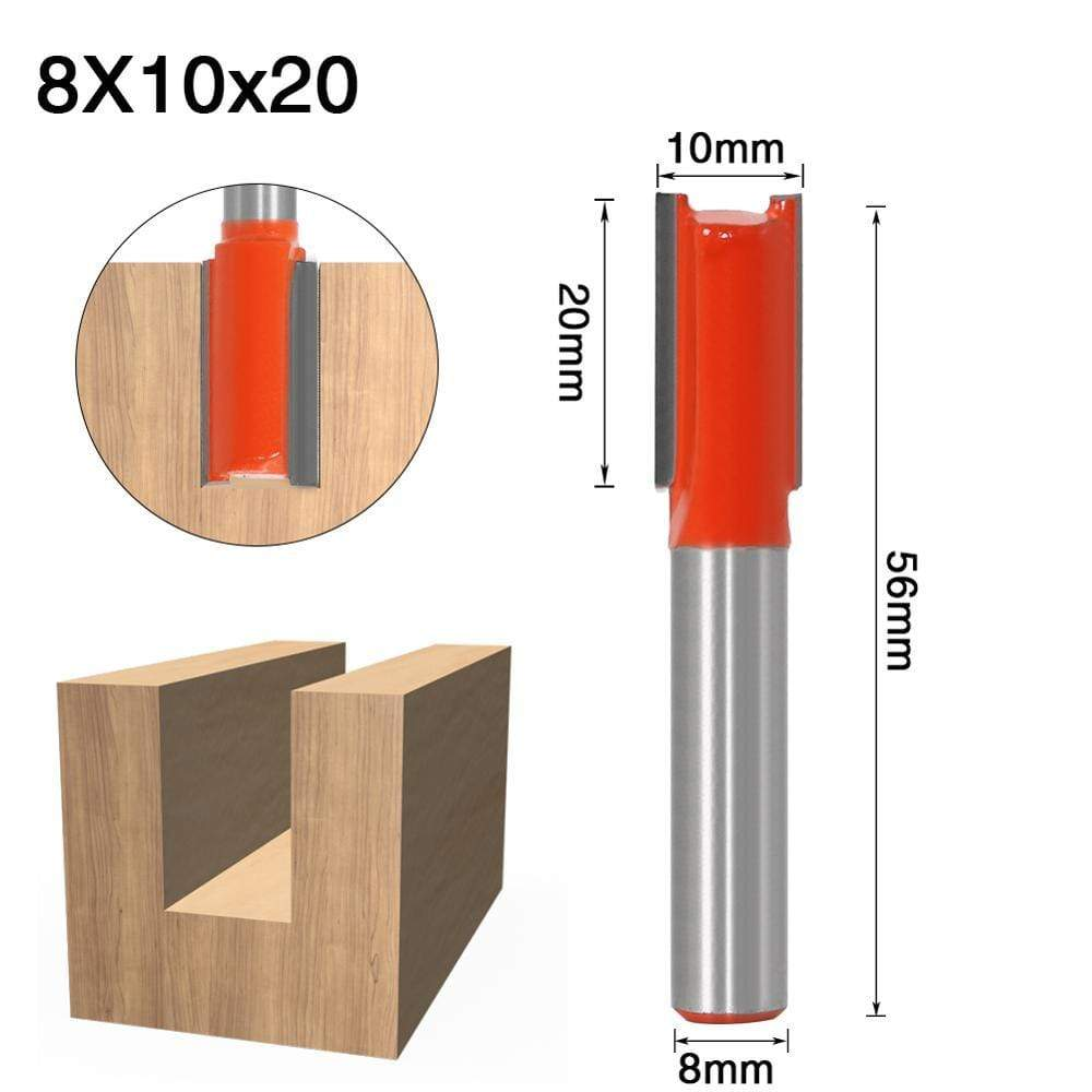 Yoybi Handmade 8X10X20 1pcs 8mm Shank 2 flute straight bit Woodworking Tools Router Bit for Wood Tungsten Carbide endmill milling cutter