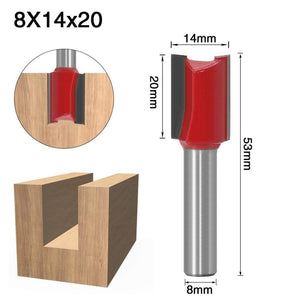 Yoybi Handmade 8X14X20 1pcs 8mm Shank 2 flute straight bit Woodworking Tools Router Bit for Wood Tungsten Carbide endmill milling cutter