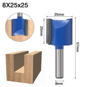 Yoybi Handmade 8X25X25 1pcs 8mm Shank 2 flute straight bit Woodworking Tools Router Bit for Wood Tungsten Carbide endmill milling cutter