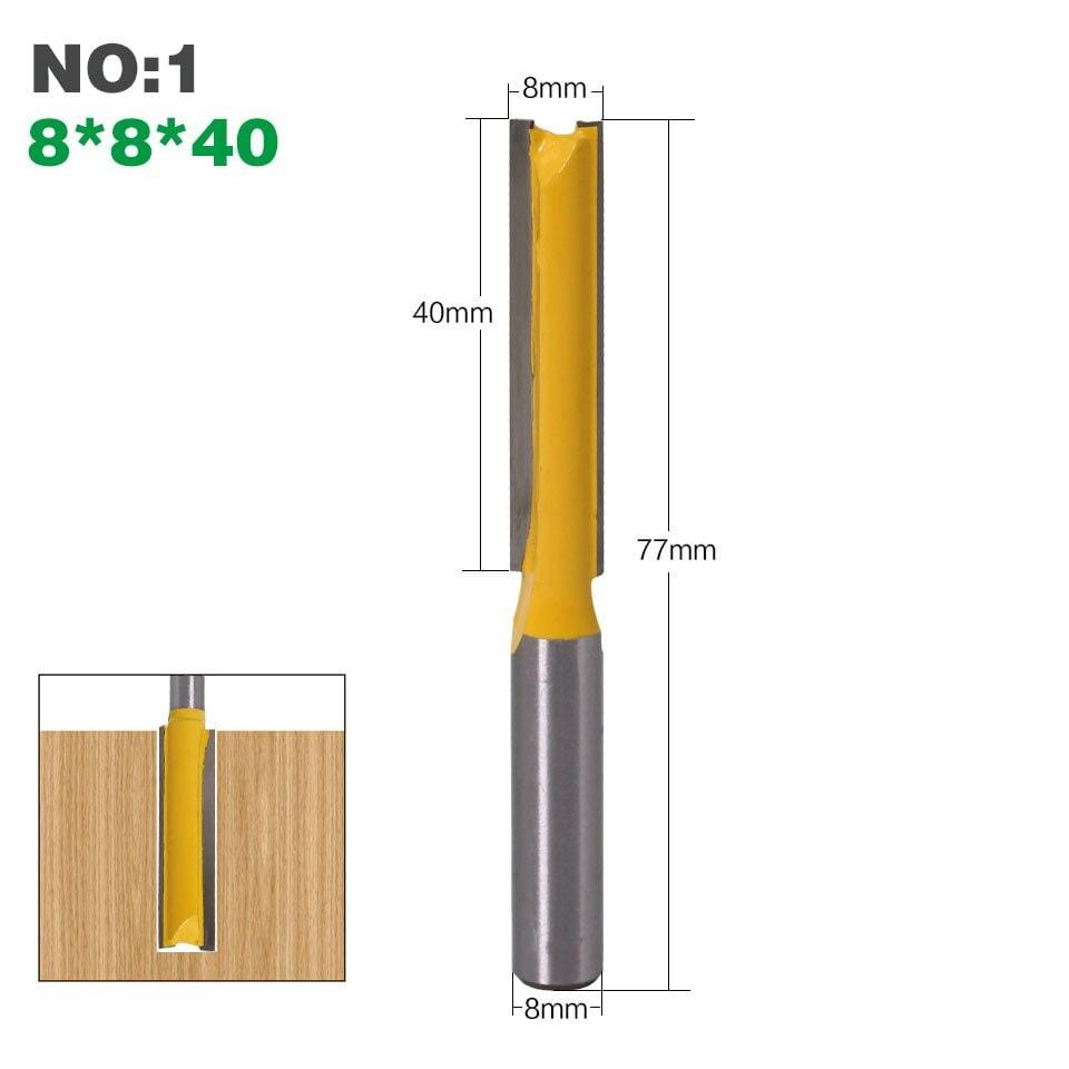 "Yoybi Handmade NO1 1Pcs 8mm"" Shank Long Cleaning Bottom Router Bit Cutter CNC Woodworking Clean Bits"
