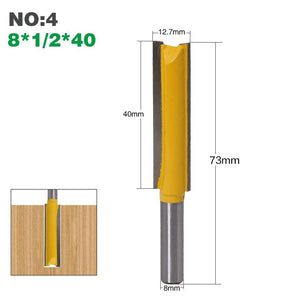 "Yoybi Handmade NO4 1Pcs 8mm"" Shank Long Cleaning Bottom Router Bit Cutter CNC Woodworking Clean Bits"