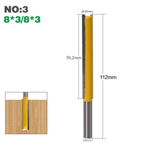 "Yoybi Handmade NO3 1Pcs 8mm"" Shank Long Cleaning Bottom Router Bit Cutter CNC Woodworking Clean Bits"