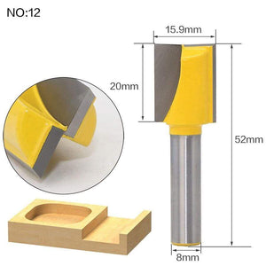 Yoybi Handmade NO12 1pcs 8mm Shank wood router bit Straight end mill trimmer cleaning flush trim corner round cove box bits tools Milling Cutte RCT