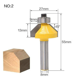 Yoybi Handmade NO2 1pcs 8mm Shank wood router bit Straight end mill trimmer cleaning flush trim corner round cove box bits tools Milling Cutte RCT