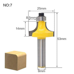 Yoybi Handmade NO7 1pcs 8mm Shank wood router bit Straight end mill trimmer cleaning flush trim corner round cove box bits tools Milling Cutte RCT