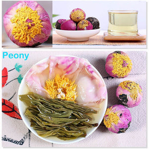 Yoybi Handmade Peony / 1 X 250g(0.55lbs) 250g Unique Handmade Pu'er Raw Flower Tea Ball ( FREE TEA CAN)