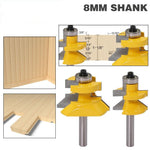 "2pc8mm"" Shank V Groove & Matched Tongue Router Bit Set w/ premium ball bearings Woodworking cutte"
