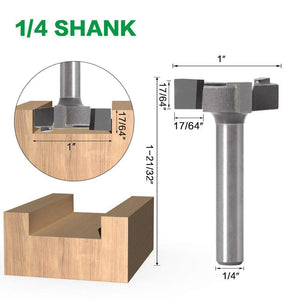 Yoybi Handmade 1I4 inch shank 6mm Shank 1/4″shank 3 teeth T-Slot Router Bit Milling Straight Edge Slotting Milling Cutter Cutting Handle for Wood Woodwork