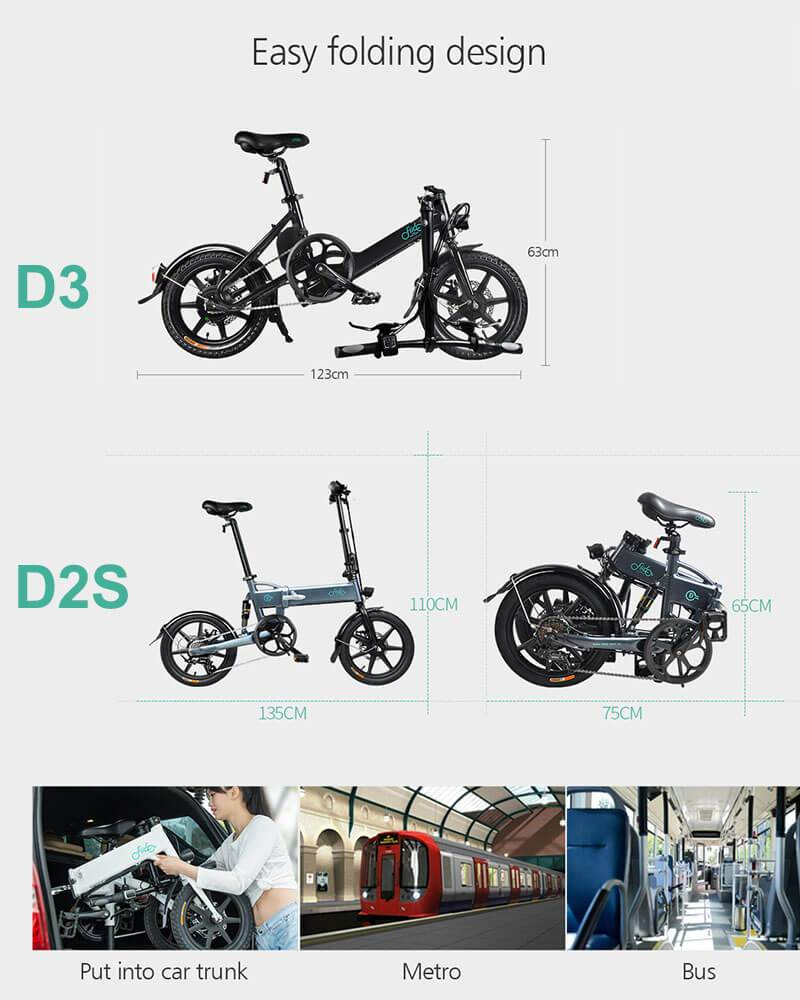 Yoybi Handmade FIIDO D2S D3 Folding Electric Moped Bike City Bike