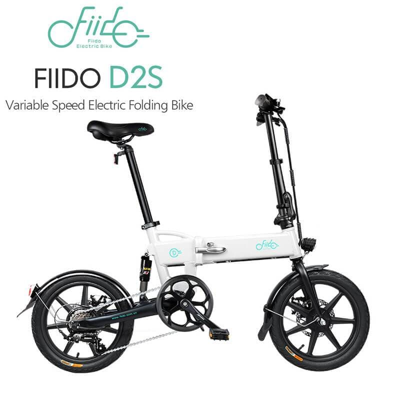 Yoybi Handmade FIIDO D2S WHITE FIIDO D2S D3 Folding Electric Moped Bike City Bike