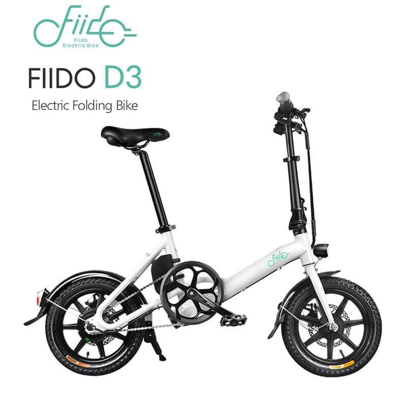 Yoybi Handmade FIIDO D3 WHITE FIIDO D2S D3 Folding Electric Moped Bike City Bike