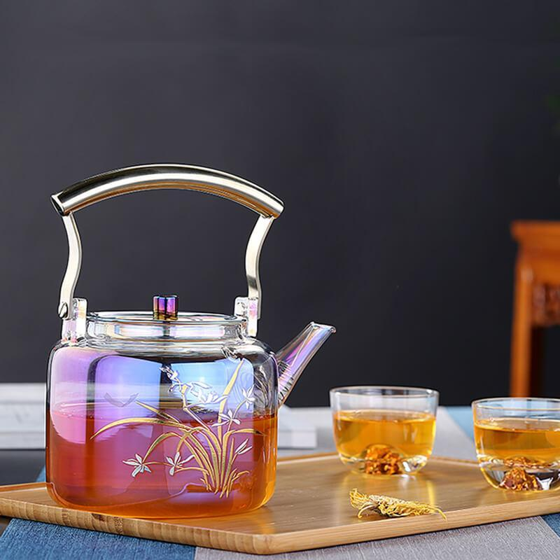 Yoybi Handmade Home & Garden High Temperature Resistant Thick Glass Teapot