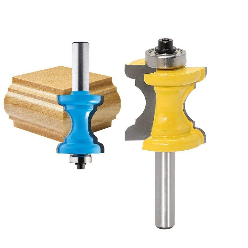 Yoybi Handmade Option New 1PC 8mm Shank Bullnose Bead Column Face Molding Router Bit For Woodworking Tools