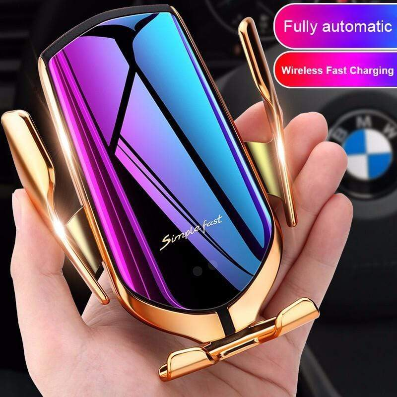 Yoybi Handmade Car Wireless Automatic Sensor Car Phone Holder and Charger