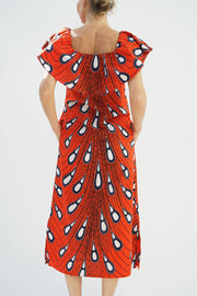 PICNICING DRESS - PEACOCK