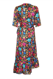 ENTERTAINING WRAP DRESS - BLACK GAUGUIN