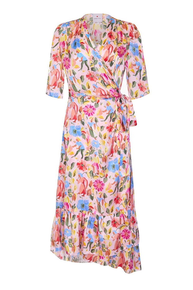 ENTERTAINING WRAP DRESS - PINK GAUGUIN