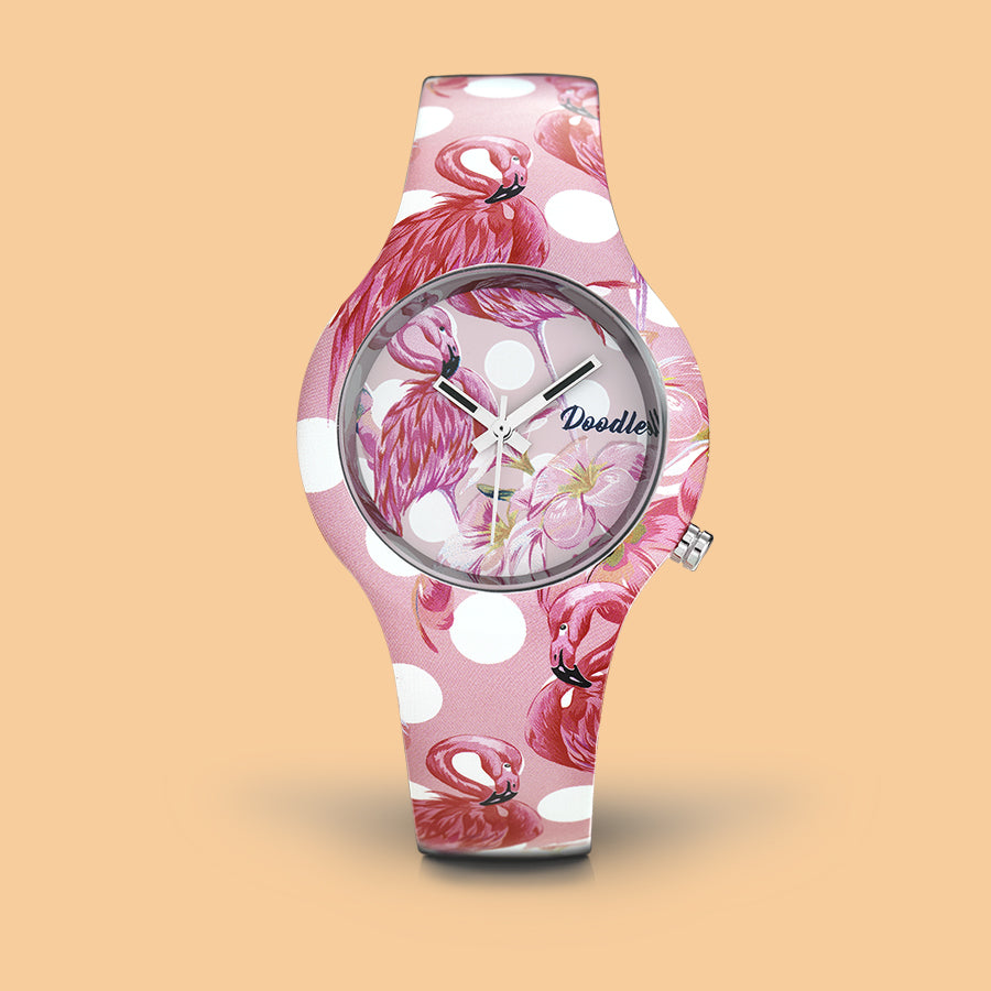 MONTRE DOODLE FLAMANT ROSE DO35004