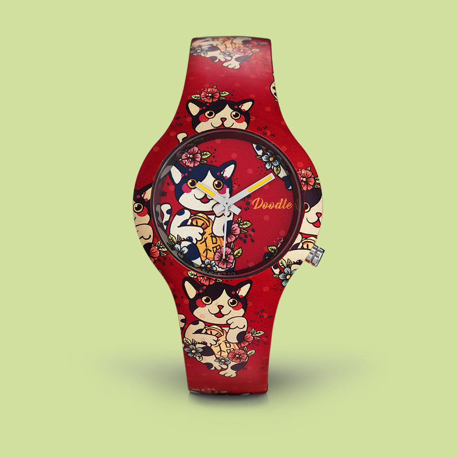 MONTRE DOODLE CHAT MANGA DO35008