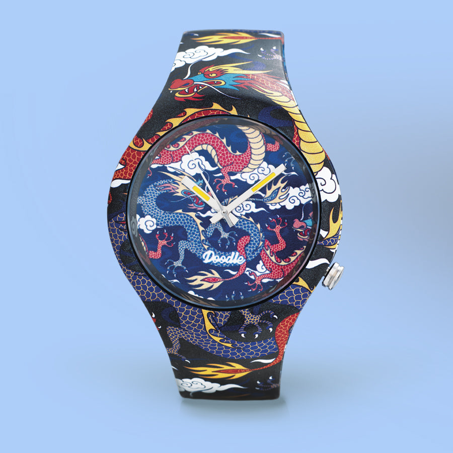 MONTRE DOODLE DRAGON FIGHTER