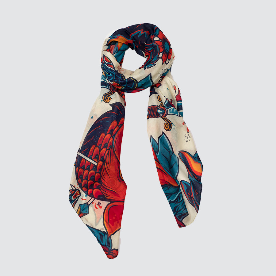 FOULARD DOODLE PANTHERE VIEILLE ECOLE