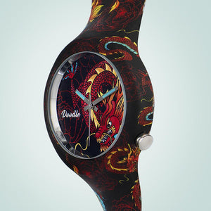RED DRAGON DOODLE WATCH