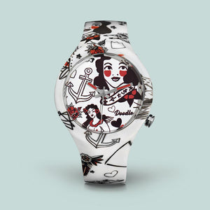 "Montre Doodle Tatouage ""Rockabilly"" - Tattoo Mood"