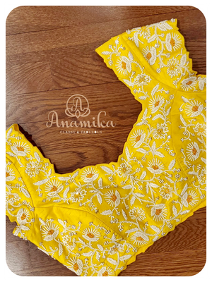 Yellow Pearl designer blouse