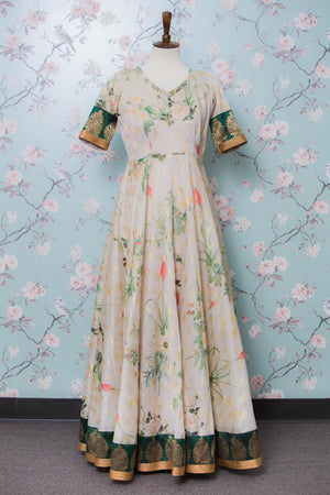 Offwhite long dress