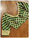 Green bandini blouse with intricate handwork