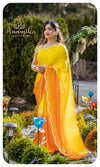 Yellow/orange satin organza designer set