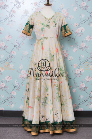 Banaras Floral Long Dress