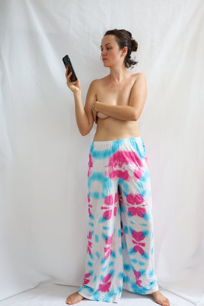 FLOWER PANTS SIZE XXL