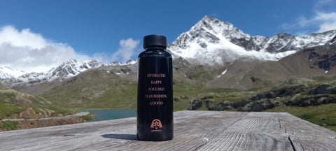goood water bottle by goooders x mama wata on the mountains