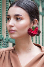 Load image into Gallery viewer, Clavel Burdeos - Verbena earrings
